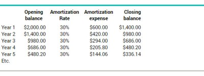 What are amortization expenses | BDC.ca