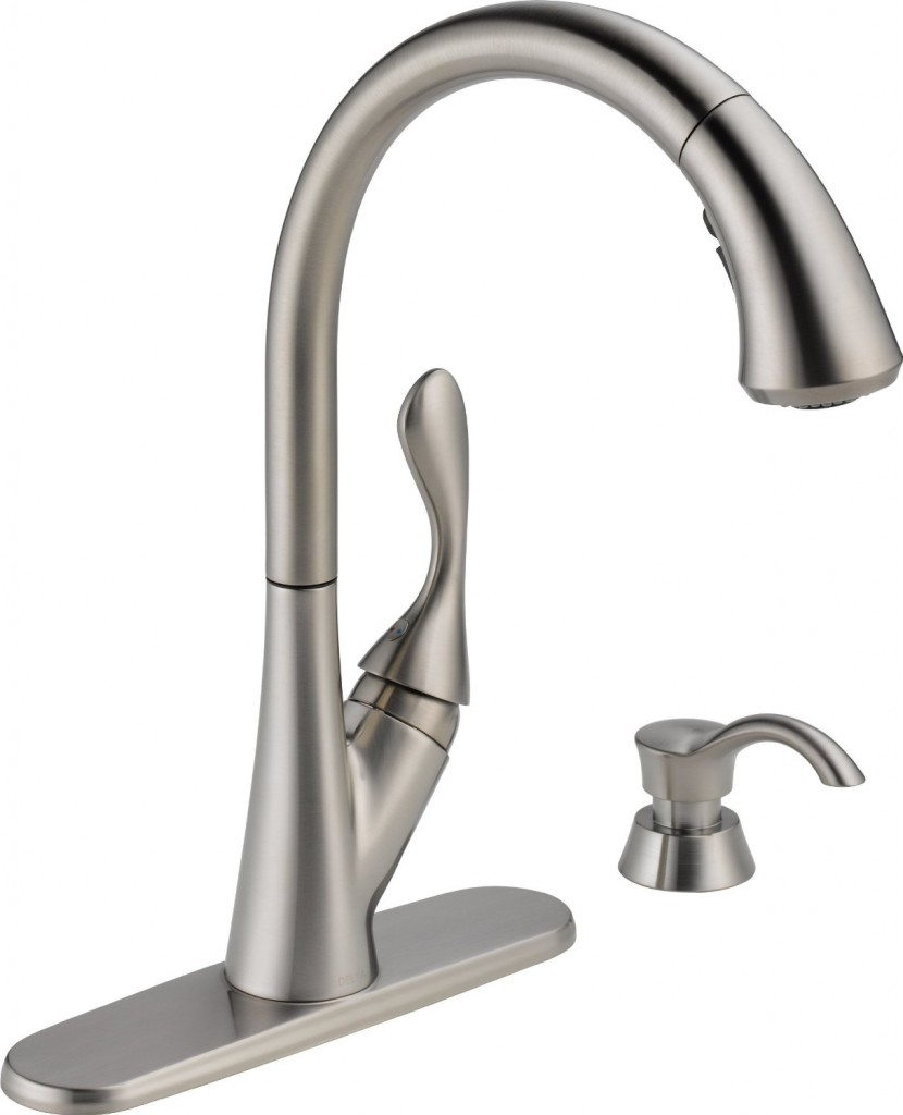 delta sssd dst single handle pull kitchen faucet cheap kitchen faucets best kitchen faucets