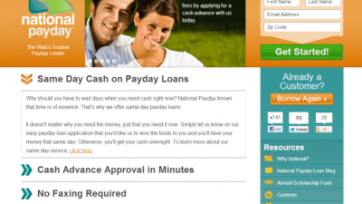 National Payday Review - Best Payday Loans