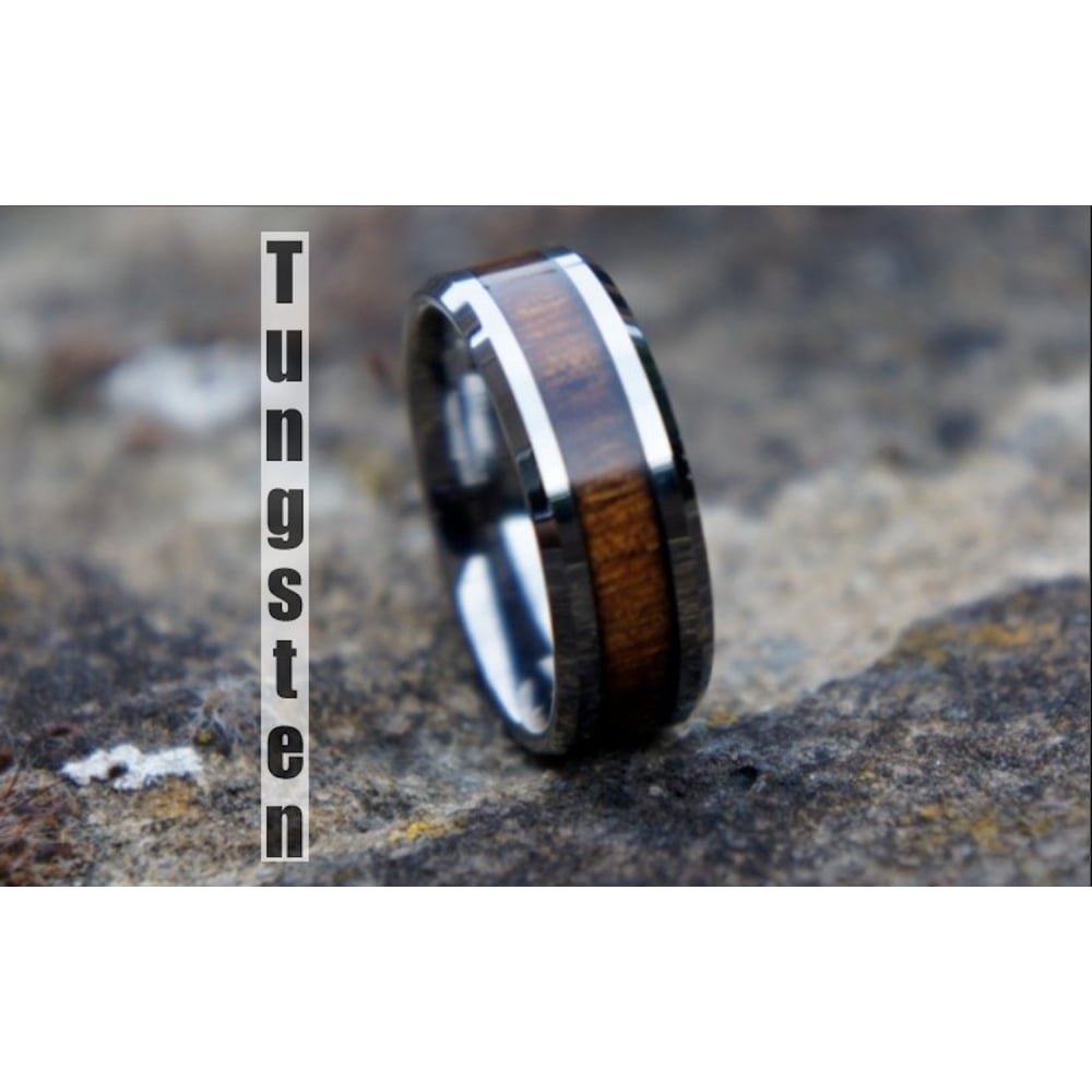 triton tungsten carbide bevel edge band for him 1 tungsten carbide wedding bands Wedding Band Tungsten Carbide 8mm