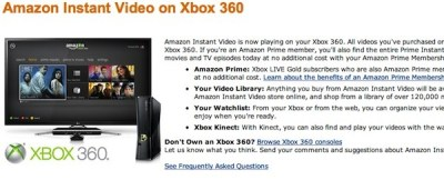 Amazon Instant Video streaming is now live on the Xbox 360   Drippler - Apps, Games, News ...