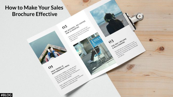 How To Make Your Sales Brochure Effective