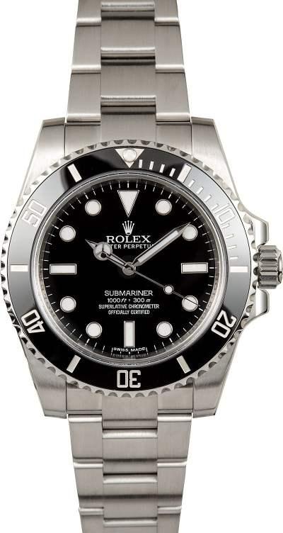 Rolex No Date Submariner 114060 Ceramic
