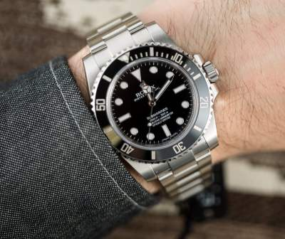 Rolex Submariner 114060 No Date Ceramic 100% Authentic