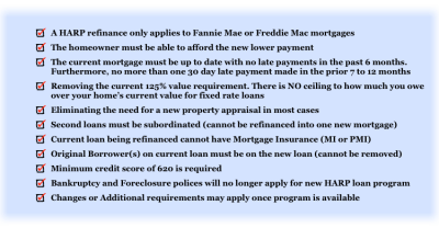 HARP Refinance Loan Program | Boca Mortgage Guy