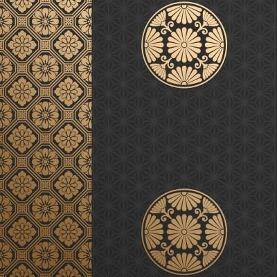 Bradbury Wallpaper | Kiku in Ebony Japanese Wallpaper