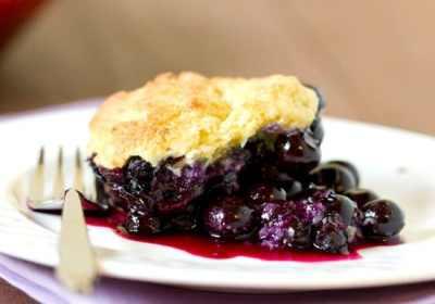 Blueberry Cobbler   Brown Eyed Baker