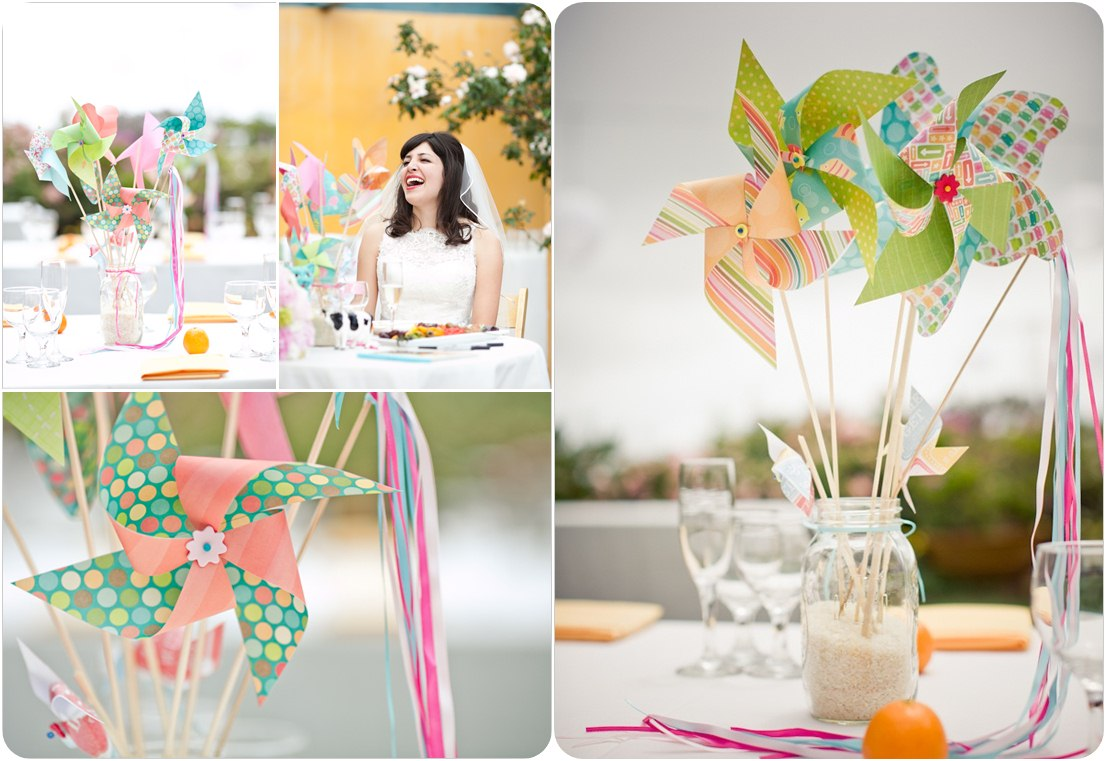 cheap wedding centerpieces wedding centerpiece pinwheels centerpiece ideas