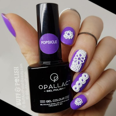 TUTORIAL: 3D Sugared Lace Gel Nails Art in White – Buff & Polish