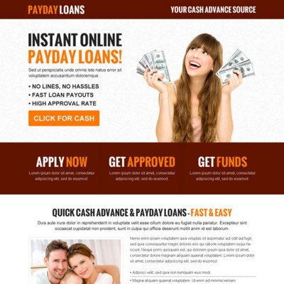 Payday loan lead capture landing page design templates page 3