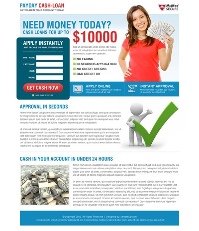 payday-cash-loan-landing-page-design-4 | Payday Loan Landing Page preview.