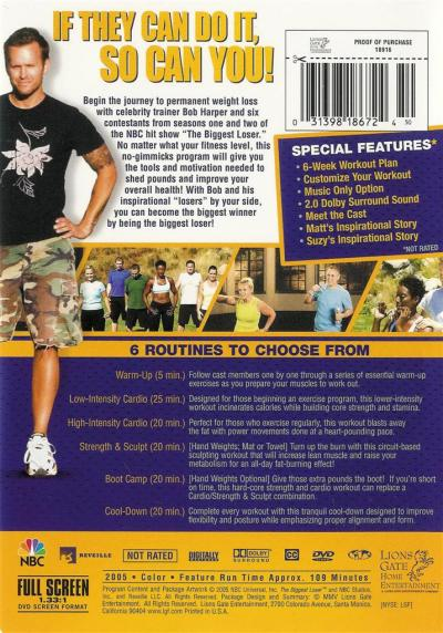 The Biggest Loser ~ The Workout ~ Bob Harper ~ DVD ~ FREE Shipping Within USA 31398186724 | eBay