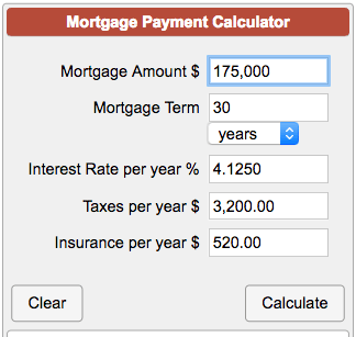 Mortgage Payment Calculator with Taxes and Insurance