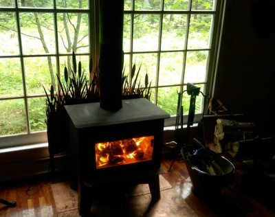 Wood Stove - Safe next to wall of windows? - Small Cabin Forum (1)