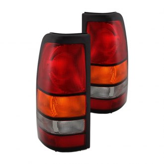 2001 GMC Sierra Custom   Factory Tail Lights     CARiD com Spyder       Chrome Red Amber Factory Style Tail Lights