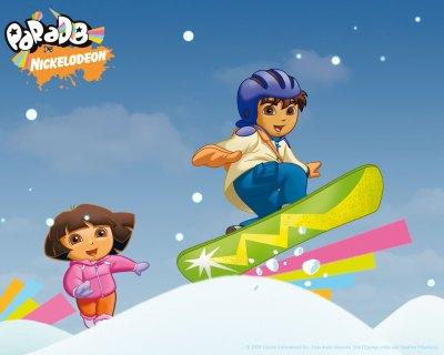 Go Diego Go Snowboard Wallpaper - Go Diego Go Free Wallpaper - Cartoon Watcher - free Go Diego ...