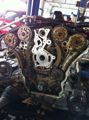Chevy Traverse And GMC Acadia Timing Chain Problems  Pictures Replacing timing chains