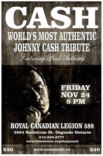 Johnny Cash Tribute Band - Canada Tour Dates   Cash Music