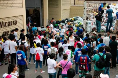 Peru's March for Life transforms into aid for flood victims