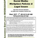 10/1/14 Seminar from Chuck Krugel–Social Media: Workplace Policies & Legal Issues