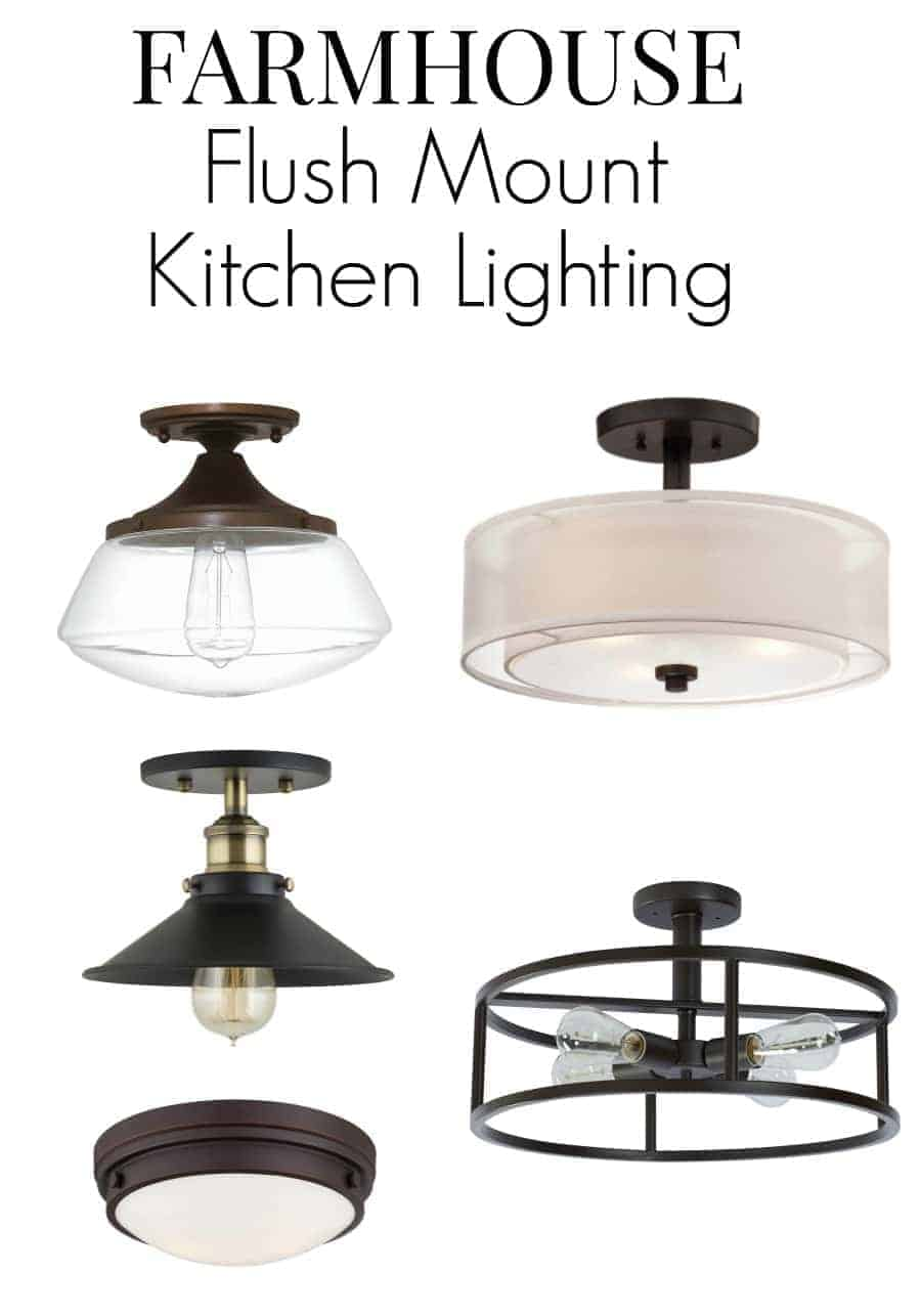 farmhouse kitchen lighting farmhouse kitchen lighting fixtures No room for pendant lighting in your small kitchen Here are 8 flush mount kitchen