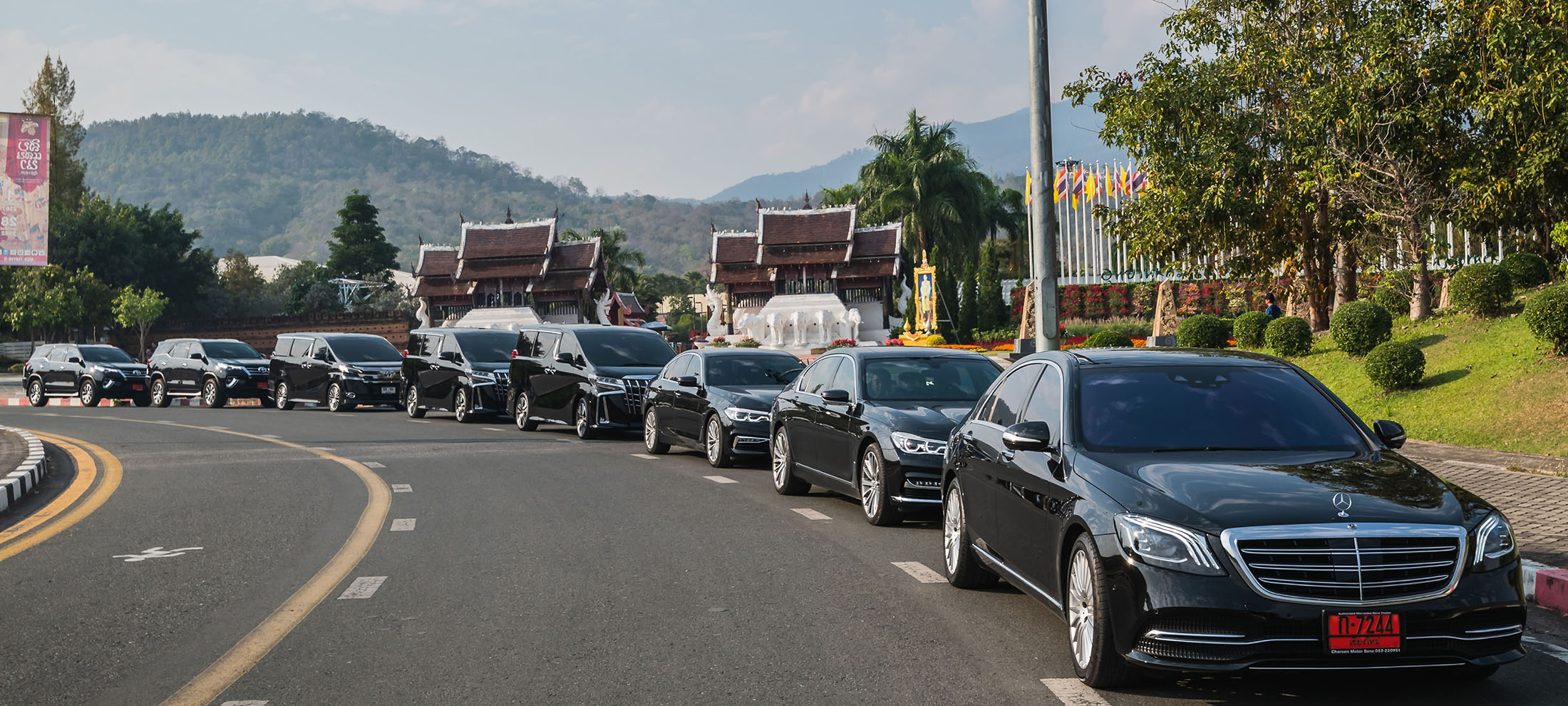 brand new car for rental by chiang mai alphard