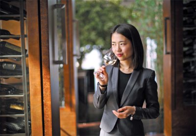 li meiyu the first female advanced sommelier on chinese mainland is happy to see that more young ...