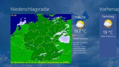 Niederschlagsradar - Windows 8 / 10 App - Download - CHIP