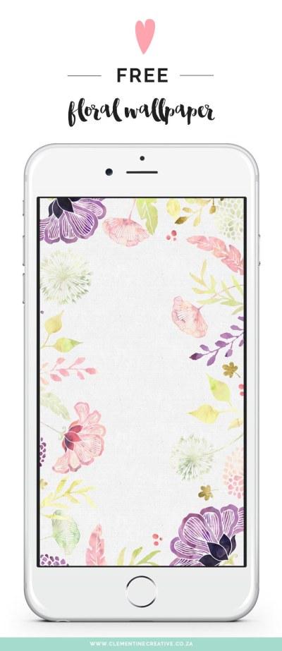 Free Floral Desktop Wallpaper - I Choose Happiness