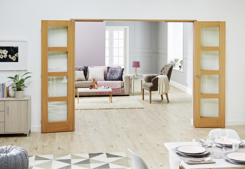 Bifold vs Frenchfold Doors   Which One To Choose    Climadoor Frenchfold doors with sidelights folded back
