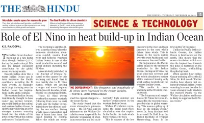 Indian Ocean warming—the bigger picture » Climate Research Lab, CCCR, IITM