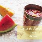 Agua de Jamaica natural. Receta con Fruta