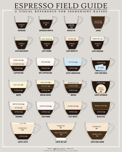 What's The Difference Between a Latte, Cappuccino, and an Au Lait [infographic] - CoffeeNate.com