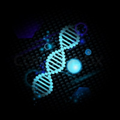 Science theme with DNA over abstract ... | Stock Photo | Colourbox