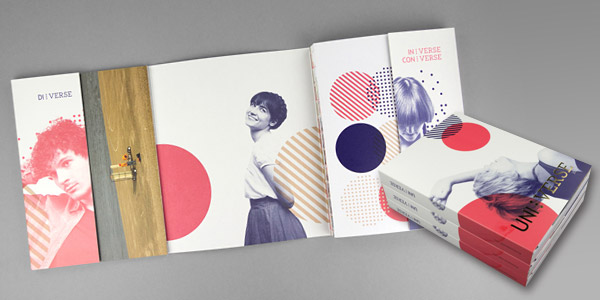 The 174 Coolest Brochure Designs for Creative Inspiration UNI VERSE 2012 Brochure
