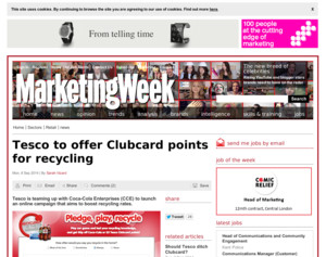 Tesco to offer Clubcard points for recycling - Tesco