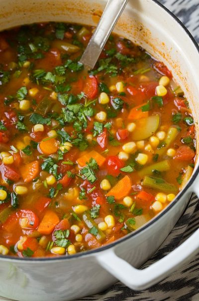 Mexican Vegetable Soup - Cooking Classy