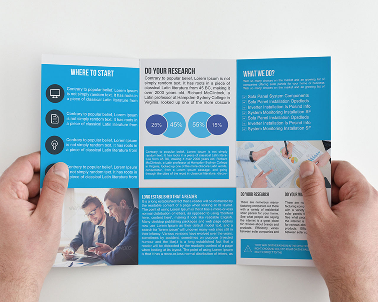 Tri fold Brochure Design Customization     Coralix Themes Trifold Template Business Brochure