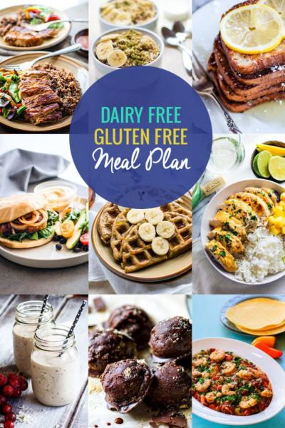 Healthy Dairy Free, Gluten-Free Meal Plan Recipes | Cotter Crunch