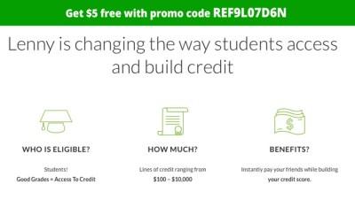 Lenny Money Transfer App Promo Code: REF9L07D6N for $5 FREE credit