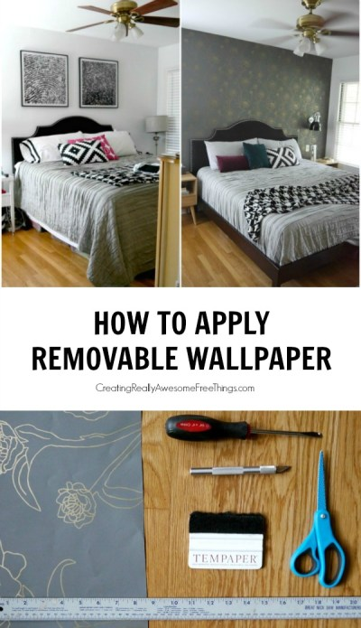 How to Apply Removable Wallpaper - C.R.A.F.T.