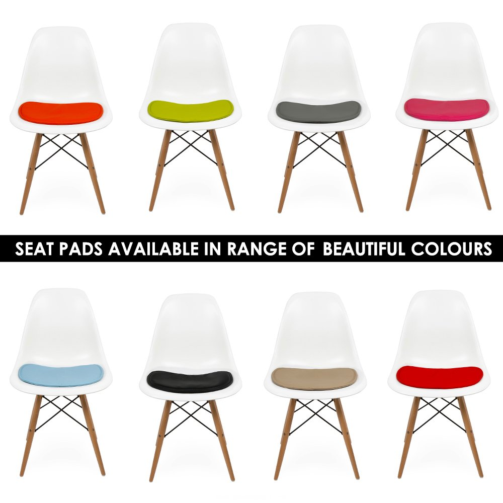 seat pad cushions for dsw or dsr side chair p kitchen chair seat cushions Eames Inspired Seat Pad Cushions for DSW Or DSR Side Chair