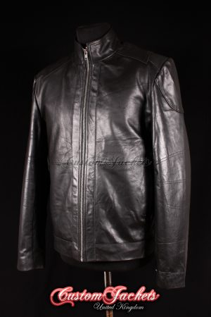 Men's RED II Black Waxed Cowhide Real Leather Hollywood Movie Film Jacket