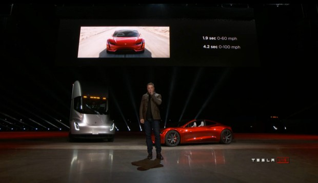 Photos: Elon Musk unveiled Tesla's new electric semi truck and new roadster – Daily Breeze