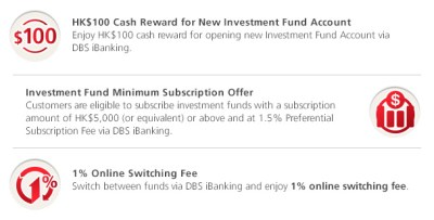 Online Investment Fund Savings Plan Offer | DBS Personal Banking