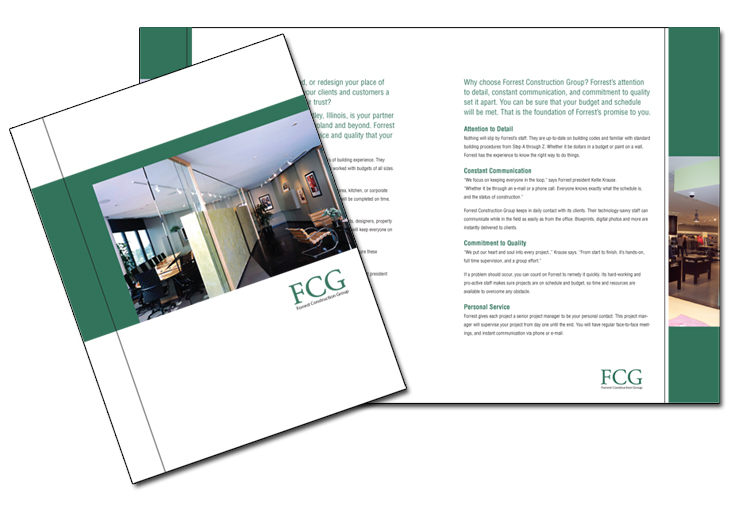 Marketing Brochure Design Samples  Corporate ideas  Trade shows     construction brochure sample