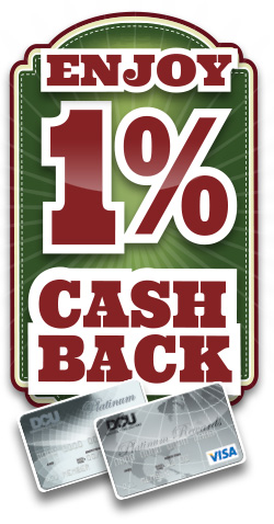 Get 1% Cash Back on Visa Credit Card Purchases | DCU | MA | NH