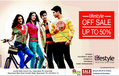 Off Sale - Upto 50% @ Lifestyle Hyderabad. | DealsHut