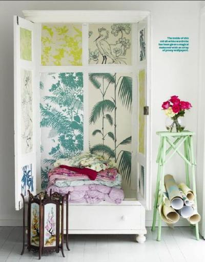 25 Furniture Decoration Ideas Personalizing Shelves and Cabinets with Modern Wallpaper Patterns