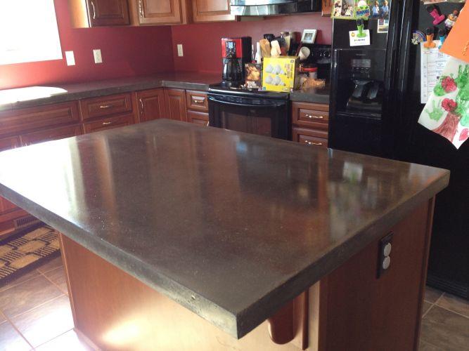 polished concrete countertops concrete kitchen countertops img